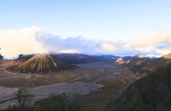 Sunrise at the Bromo volcano. This photo is taken in Java Island, Indonesia. sunrise at the bromo volcano Royalty Free Stock Photo