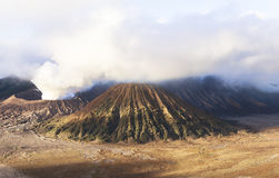 Sunrise at the Bromo volcano. This photo is taken in Java Island, Indonesia. Mount Bromo, one of the top travel destinations in East Java Indonesia, is an active Royalty Free Stock Images