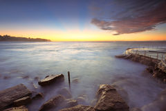 Sunrise at Bronte Beach Australia Royalty Free Stock Photography