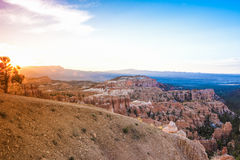Sunrise at Bryce Canyon as Viewed From Sunrise Point at Bryce Ca Royalty Free Stock Photo