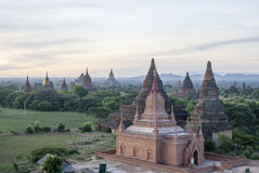 Sunrise at the Buddhist temples of Bagan, an ancient site in Myanmar (Burma) Stock Photos