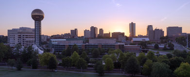 Sunrise Buildings Downtown City Skyline Knoxville Tennessee USA Royalty Free Stock Photo