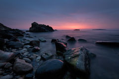 Before sunrise at Burgas bay Stock Photos