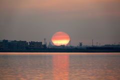Sunrise at busaiteen beach Royalty Free Stock Image