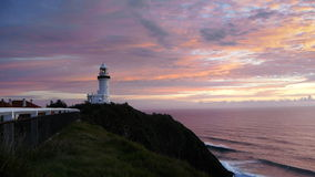 Sunrise byron bay lighthouse stock footage