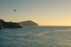 Sunrise on Cabo de Gata royalty free stock photos