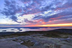 Sunrise From Cadillac Mountain  Royalty Free Stock Photo