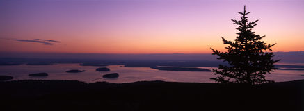 Sunrise on Cadillac Mountain, Maine royalty free stock images