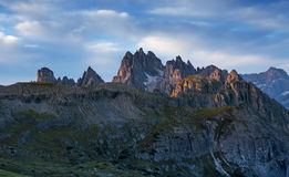Sunrise in the Cadini Di Misurina Royalty Free Stock Photo