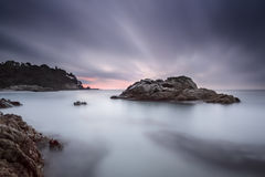 Sunrise at Cala Boadella Royalty Free Stock Photography