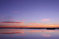 Sunrise in Camargue Royalty Free Stock Photography