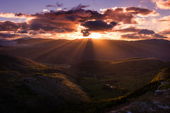 Sunrise Campo Imperatore, Abruzzo, Italy Royalty Free Stock Images