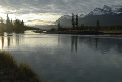 Sunrise in Canadian Rockies Stock Photo