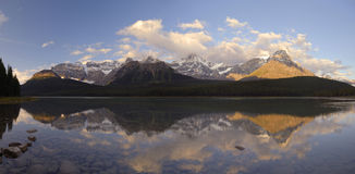 Sunrise in Canadian Rocky Mountains stock photo