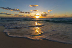 Sunrise at cancun Stock Image