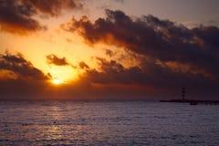 Sunrise in Cancun, Mexico Stock Image