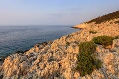 Cape Doukato, Lefkada island, Greece. Sunrise in Cape Doukato. Lefkada island, Greece Stock Images