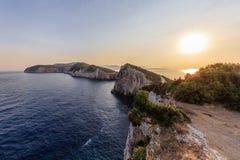 Cape Doukato, Lefkada island, Greece. Sunrise in Cape Doukato. Lefkada island, Greece Stock Photography