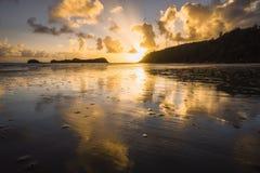 Sunrise at Cape Hillsborough stock photo