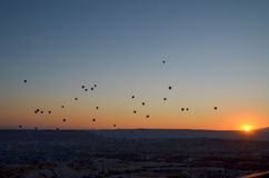 Sunrise in Cappadocia Royalty Free Stock Photography