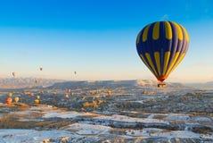 Sunrise in Cappadocia. Hot Air Balloon Ride in Cappadocia Royalty Free Stock Photo
