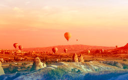 Sunrise in Cappadocia Royalty Free Stock Images
