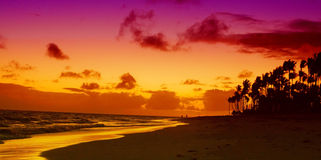 Sunrise in the Caribbean. Royalty Free Stock Images