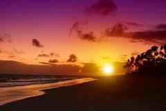 Sunrise in the Caribbean. Stock Photo