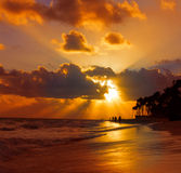 Sunrise in the Caribbean. Royalty Free Stock Photography