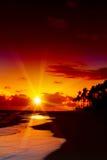 Sunrise in the Caribbean. Stock Photos