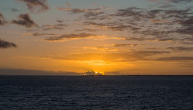 Sunrise Caribbean Ocean Stock Photography