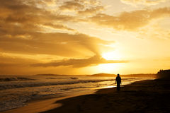 Sunrise in the Caribbean Stock Photo