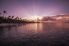 Sunrise in Caribbean Royalty Free Stock Images