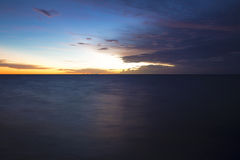 Sunrise. At Caribbean Sea, close to Cancun, Mexico royalty free stock image