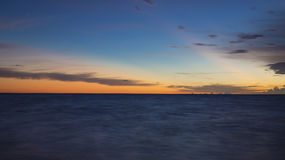 Sunrise. At Caribbean Sea, close to Cancun, Mexico stock photo
