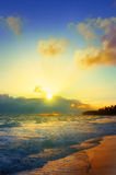Sunrise in the Caribbean. Royalty Free Stock Image