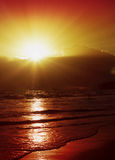 Sunrise in the Caribbean. Stock Photography