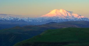 Sunrise in Caucasus Royalty Free Stock Photography