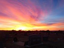 sunrise cemetary royalty free stock photo