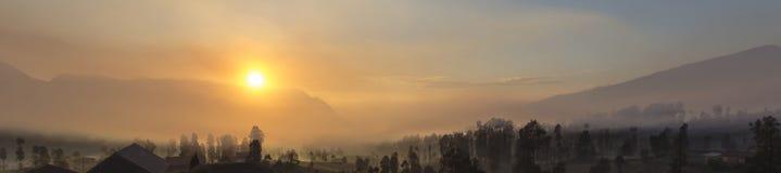 Sunrise at cemoro lawang royalty free stock photo