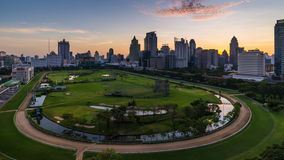 Sunrise at center of Bangkok. Sunrise at central of Bangkok with surround building Stock Images