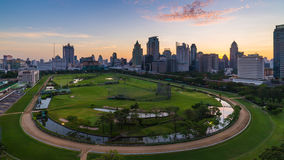 Sunrise at central of Bangkok. With surround building Royalty Free Stock Photography