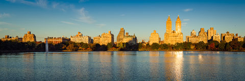 Sunrise on Central Park and Upper West Side, New York City Stock Photo