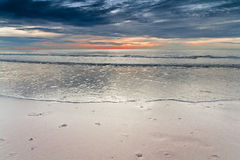 Sunrise at Cha-am Beach. Royalty Free Stock Photography