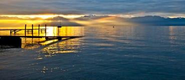Sunrise at Chablais Alps Royalty Free Stock Image