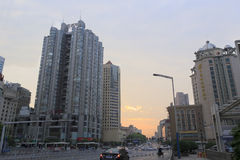 Sunrise of changsha street Royalty Free Stock Image