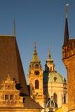 Sunrise on Charles Bridge in Prague Stock Photos