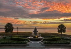 Sunrise in Charleston Royalty Free Stock Images