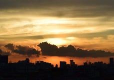 Sunrise. From the China Guangzhou sunrise Royalty Free Stock Photo