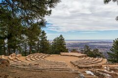 Free Sunrise Circle Amphitheater On The Top Of Flagstaff Mountain Royalty Free Stock Image - 215354836